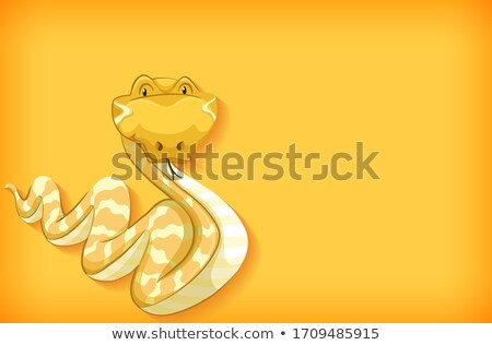 Background template design with plain color and snake Stock photo © bluering
