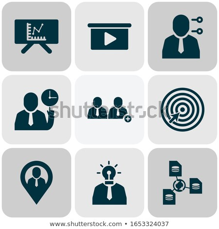 Boss Leader Company Onboarding Elements Icons Set Vector Stock photo © pikepicture
