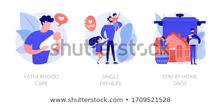 Homens paternidade abstrato vetor Foto stock © RAStudio