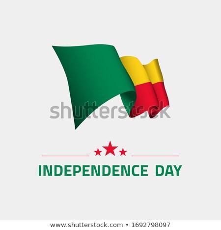 Benin zászló fehér szeretet absztrakt szív Stock fotó © butenkow