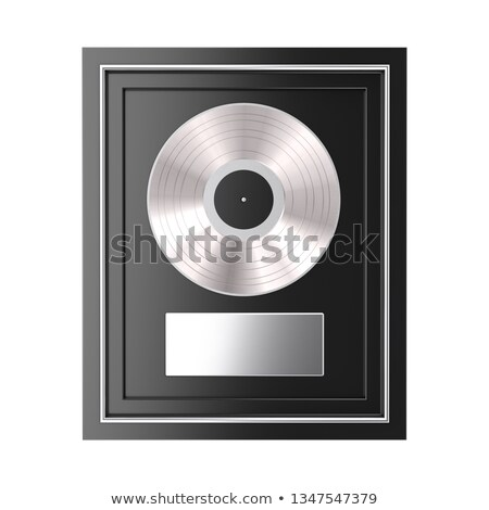 платина альбома виниловых диска шаблон белый Сток-фото © evgeny89