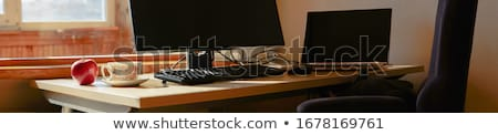 Freelance banner schets ontwerp computer kantoor Stockfoto © Anna_leni