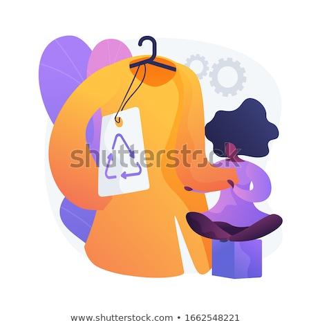 Abbigliamento marca vettore metafora riciclaggio Foto d'archivio © RAStudio