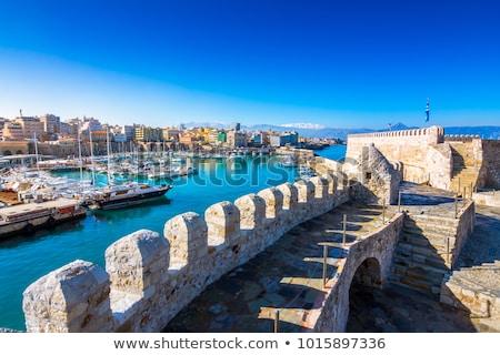 Veneciano fuerte isla Grecia castillo puesta de sol Foto stock © dmitry_rukhlenko