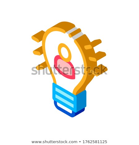 Quick Wits Human Talent isometric icon vector illustration Stock photo © pikepicture