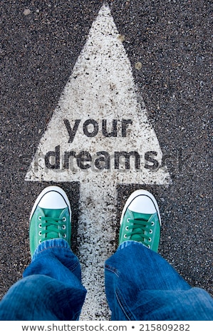 Stock photo: Green Road Sign - Follow Your Dreams