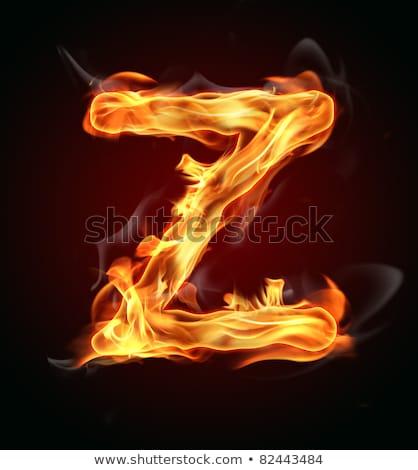 égő · láng · betűtípus · levél · fekete · textúra - stock fotó © rastudio