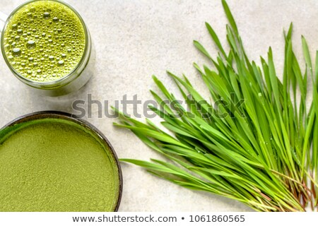 Glass of wheatgrass on white  Stock photo © Sandralise