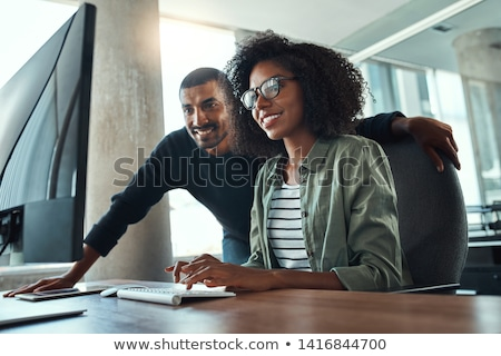 Portrait of two people working on the computer. Stock photo © HASLOO