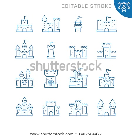Stock photo: Historical place icon