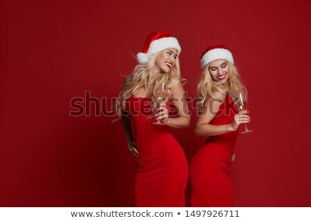 glamour santa woman stock photo © smithore