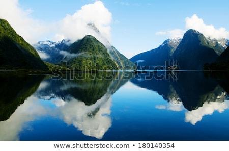twijfelachtig · geluid · schilderachtig · New · Zealand · water · wolken - stockfoto © alexeys