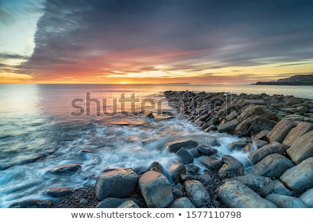 sunset at coast of the sea Stock photo © papa1266