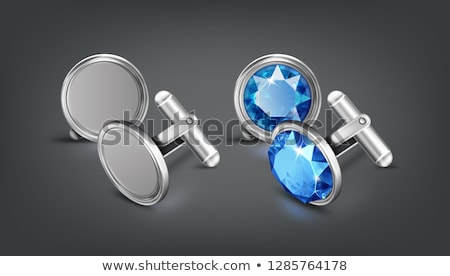 pair of platinum cufflinks Stock photo © RuslanOmega