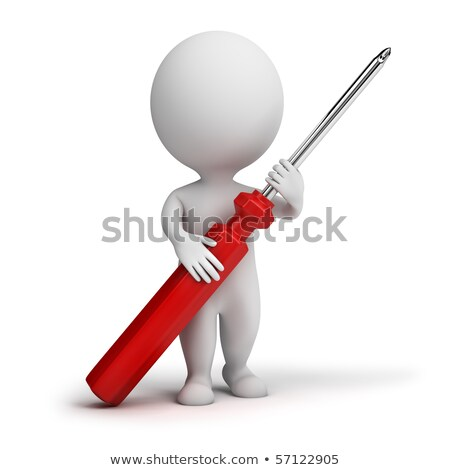 3d small people - screw-driver Stock photo © AnatolyM