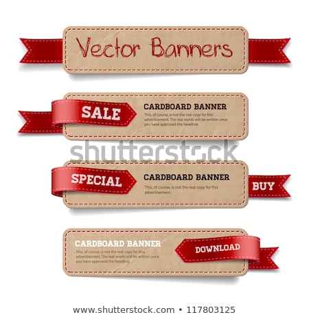 Red paper tags - Vector ribbons Stock photo © orson