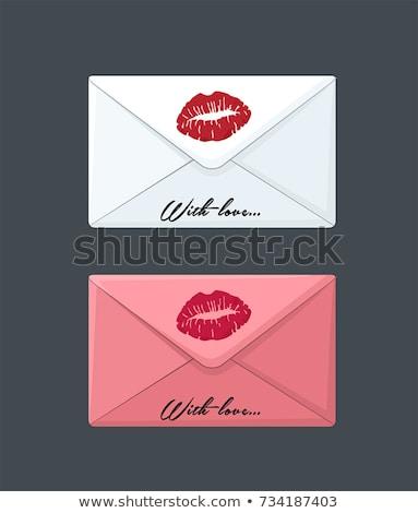 envelope with lipstick kiss Stock photo © ssuaphoto
