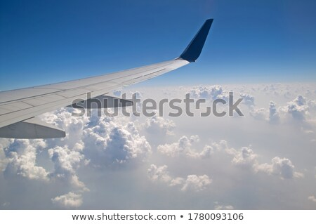 Jet plane in a clear blue sky. Vertical composition. Stock photo © moses
