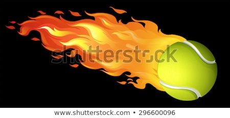 Tennis Balls with Flames Vector Images stock photo © chromaco