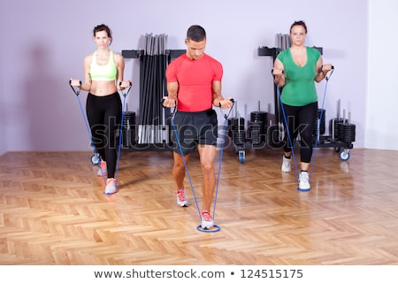 Man using a resistance exerciser Stock photo © photography33