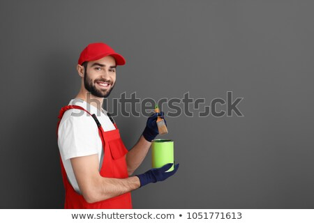 painter holding a can of paint stock photo © photography33