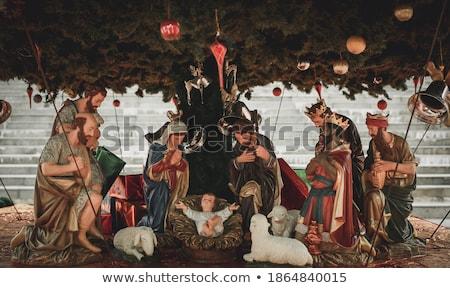 Jézus ezüst művészet angyal Biblia belső Stock fotó © Witthaya