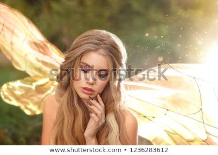 femme · chiffre · silhouette · décoratif · fleur · texture - photo stock © glyph