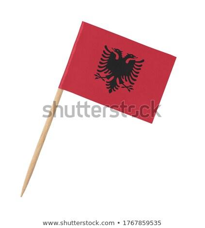 миниатюрный флаг Албания изолированный заседание Сток-фото © bosphorus