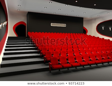 Desolate red cinema hall with comfortable velvet armchairs Stock photo © Victoria_Andreas