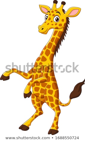 Grappig giraffe cartoon kinderen teen afrika Stockfoto © dagadu
