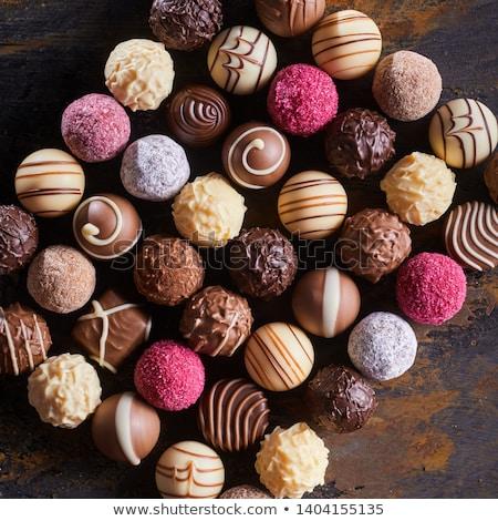 Csokoládé válogatás finom étcsokoládé cukorka ajándék Stock fotó © courtyardpix