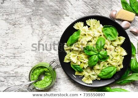 Stok fotoğraf: Makarna · spagetti · makro · doğal