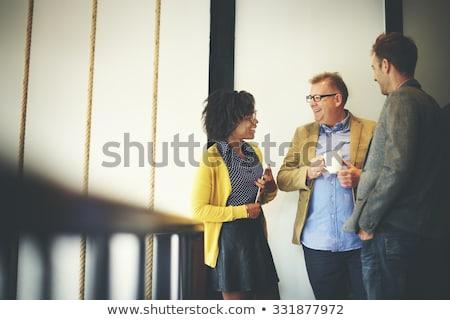 groep · praten · mensen · silhouetten · mensen · praten · ruzie - stockfoto © Vg