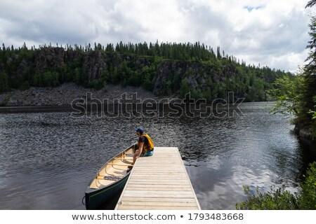 wooden jetty Stock photo © magann