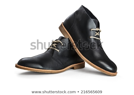 the black mans shoes isolated stock photo © ozaiachin