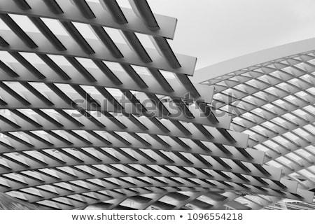 Modern építészet ipari épület iroda város absztrakt Stock fotó © Spectral