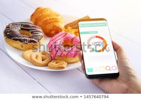 Stracić kalorie metra klatka schodowa krok Zdjęcia stock © smithore