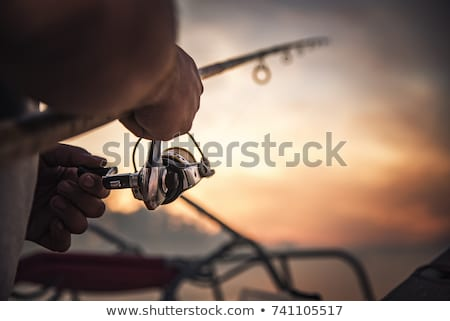 Fishing at sunrise Stock photo © simply