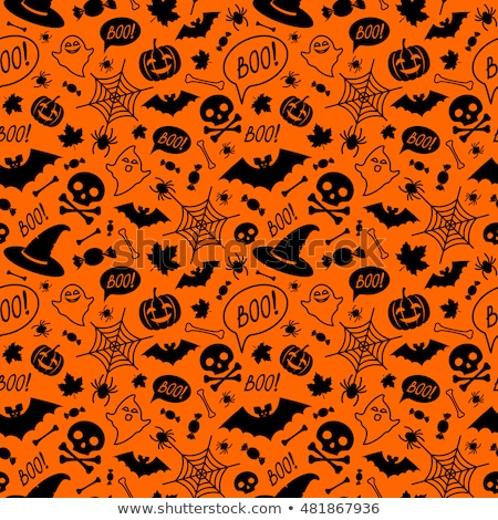 Seamless halloween background with ghosts Stock photo © AnnaVolkova