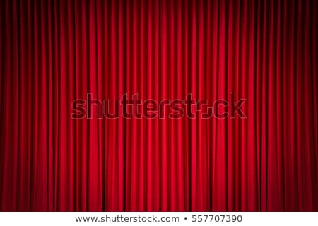 Stock photo: Red theater curtains with shadows
