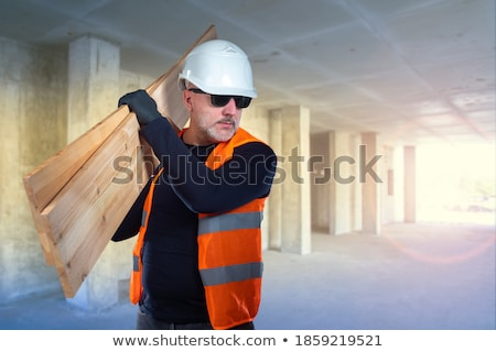 Male woodworker carrying frame Stock photo © photography33
