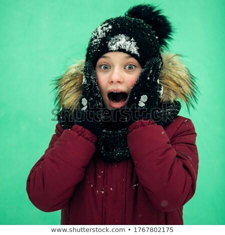 Fright teenager girl Stock photo © pzaxe