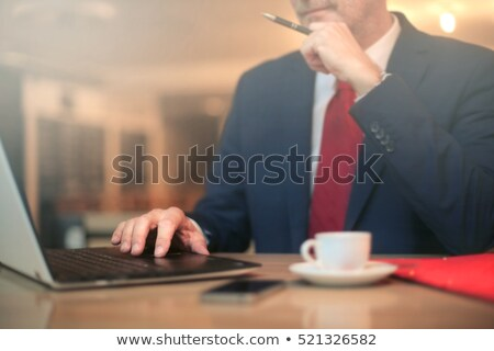 business man with tie and glasses and beard portrait Stock photo © juniart
