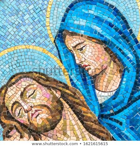 mosaico · Gesù · Cristo · esterno · antica · monastero - foto d'archivio © taiga