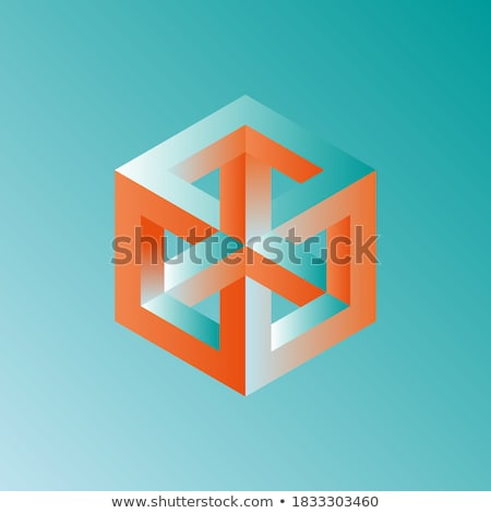 Unreal cube. Stock photo © Leonardi
