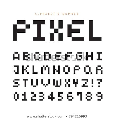 pixel · művészet · ábécé · betűtípus · textúra · fém - stock fotó © kaludov