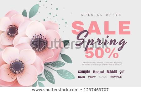 Сток-фото: свежие · весны · предлагать · зеленый · цветок · Label