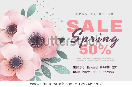 flor · etiqueta · venta · flores · blancas · blanco · árbol - foto stock © marinini