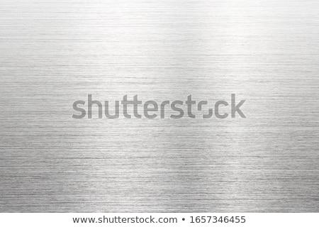 Stock photo: fine brushed steel metal