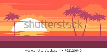 Tropical Beach In The Morning Stockfoto © GoMixer